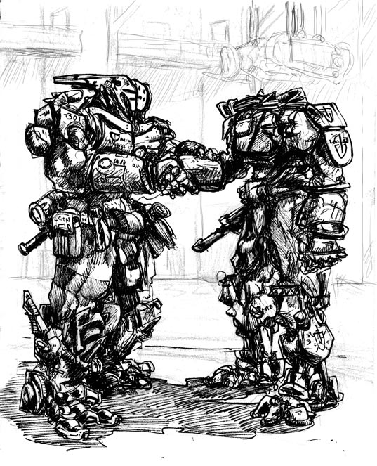 Brothers in arms drawing